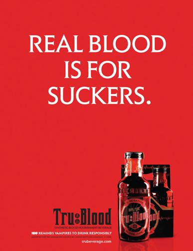 True Blood Print Advertisement