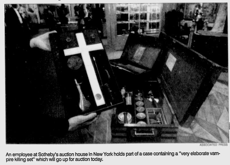 Sotheby Vampire Killing Kit