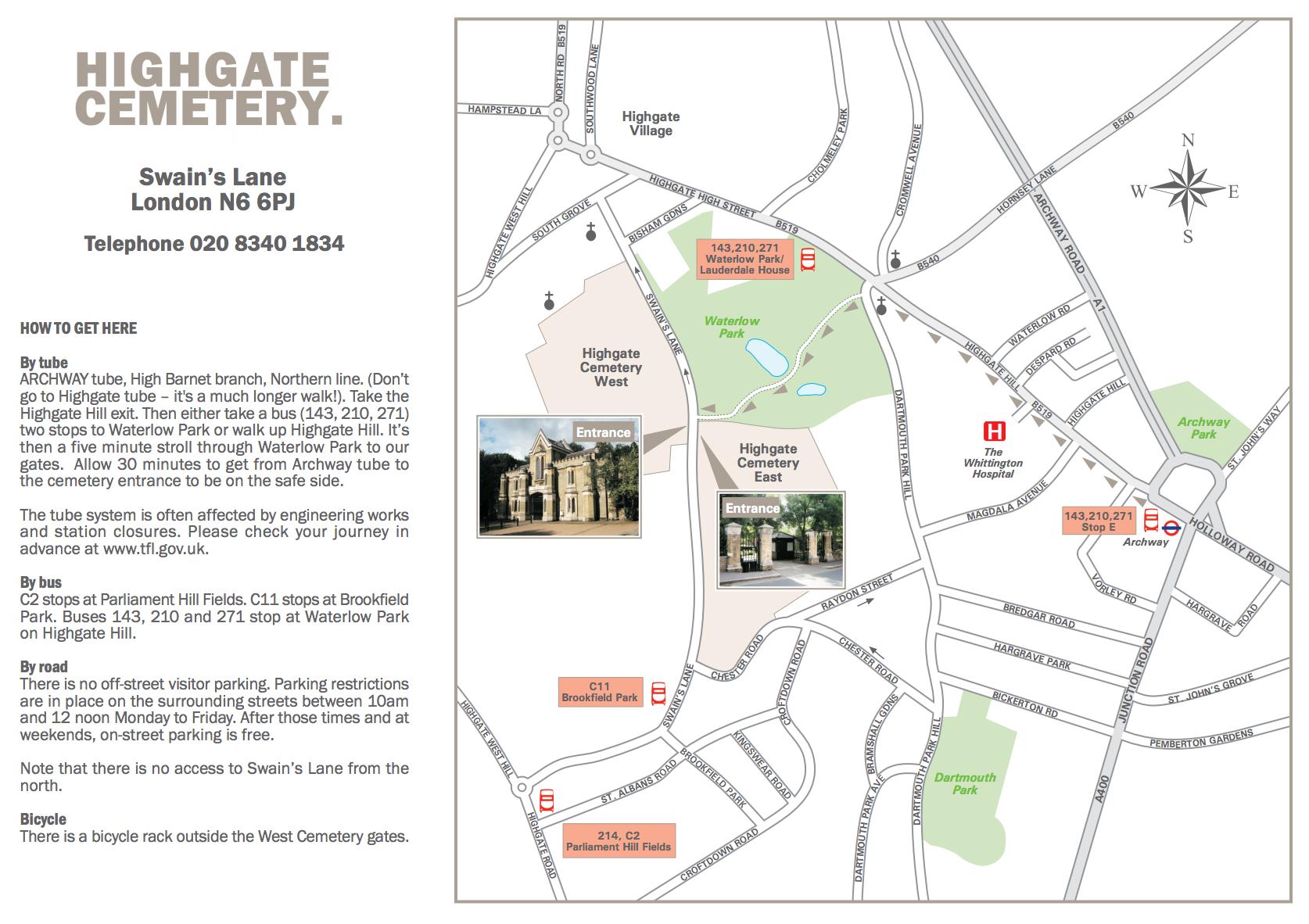 Highgate Cemetery Map Seeking Vampires in London | Vamped Highgate Cemetery Map