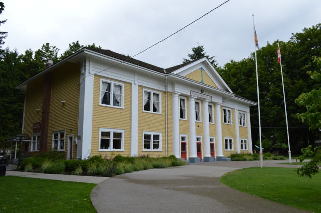 Fort Langley Community Hall as depicted in the Vampire Diaries. Located in Fort Langley, BC. (Photo by: Erin Chapman)