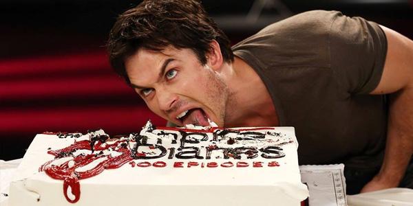 Ian Somerhalder Eating Cake